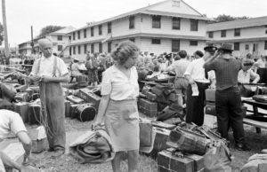 World War 2 refugees with baggage