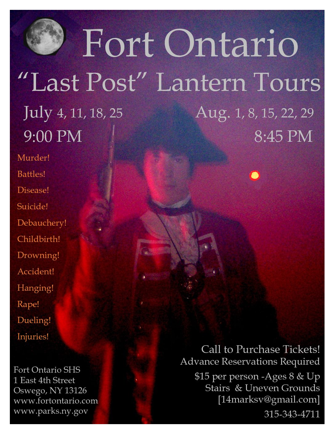 """Last Post"" Lantern Tours of Fort Ontario"